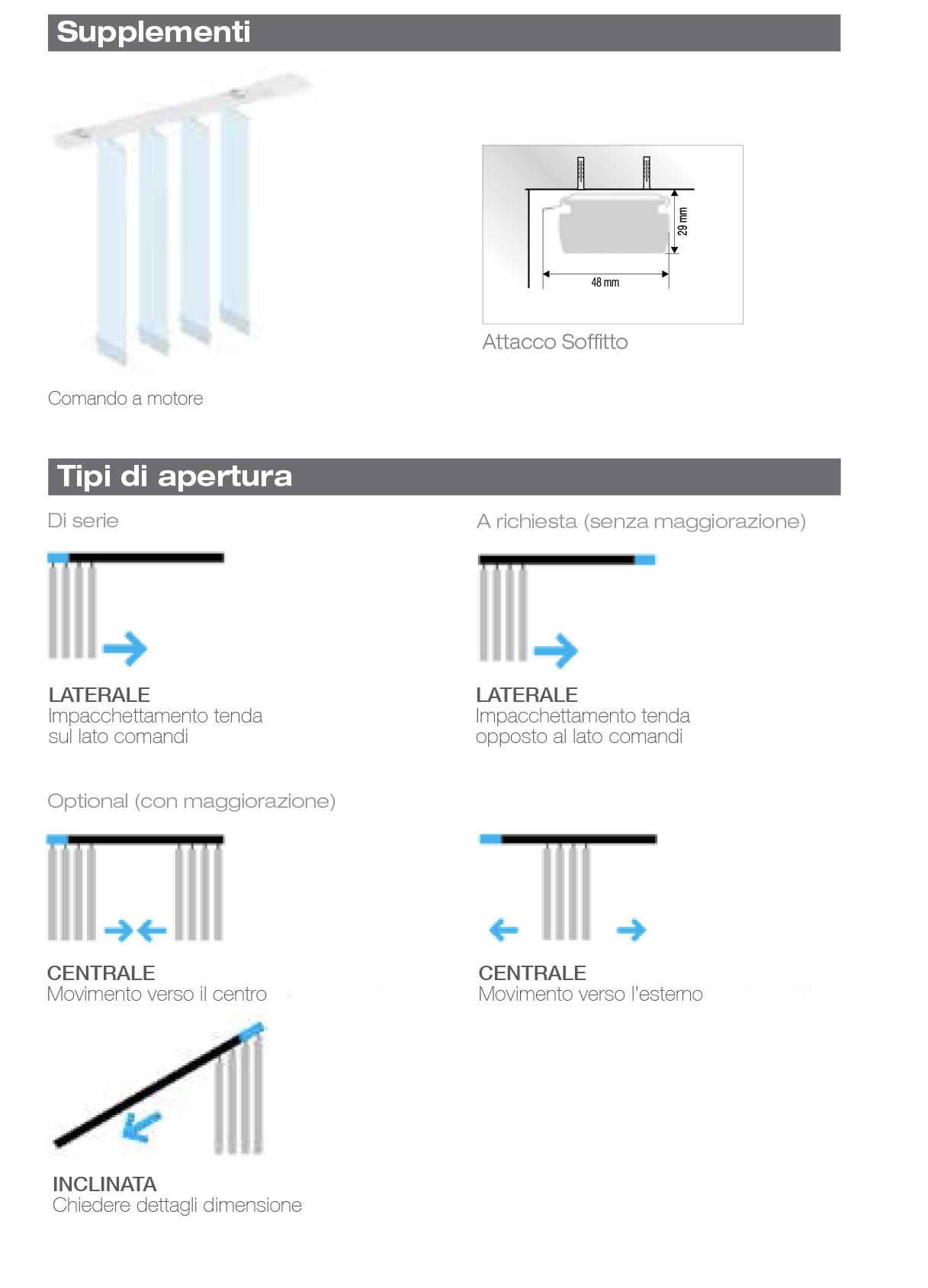 Tende Per Soffitti Inclinati serie verticali | spazio tende lecce - tende da sole zanzariere
